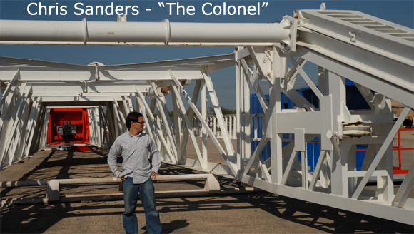 Chris Sanders drilling the barnett shale - the colonel
